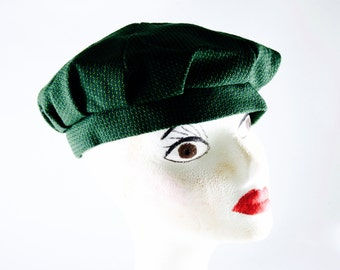 Gatsby hat / hipster hat  / green cap / green hat /  boho hat / cap boho