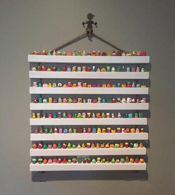 Display Storage Shelf with 8 Shelves - Organize and Display Your Shopkins Collection - Hang it on the Wall
