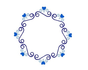 Hearts and Swirls Machine Embroidery Frame