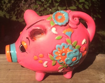 1968 Holiday Cash Piggy Bank