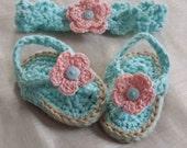 Baby Sandals Headband Set,Baby Girl Crochet Sandals,Baby Girl Sandals Crochet,Crochet Infant Flip Flops,Crochet Baby Flip Flops,Crochet Gift