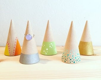 Hand Painted Wooden Ring Holders - Your Pick