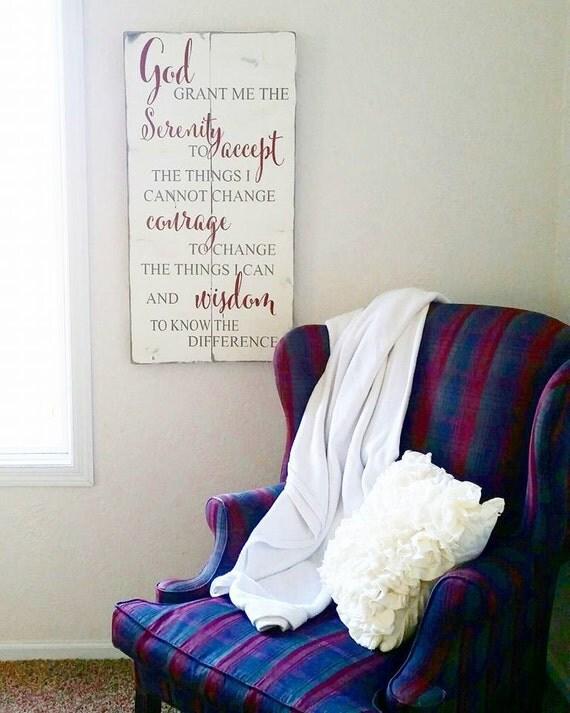 Serenity Prayer Wood Sign {Customizable}