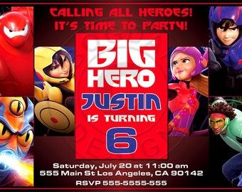 Big Hero 6 Party Invites, Big Hero 6 Birthday Party Printables, BIG HERO 6 INVITATION, Card Big Hero 6,