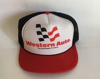Vintage Western Auto Trucker Hat