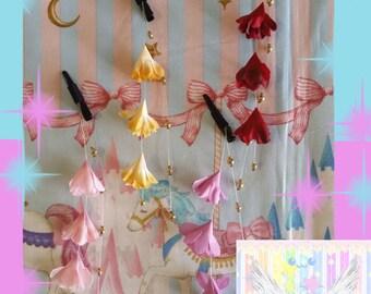 Cute Vibrant Flower Dangle Hair Clip - Choose Color