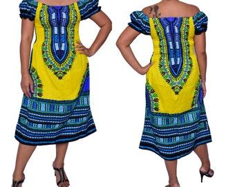 New African Dashiki Dress / Skirt for her,women,Africa,Dress,Shirt,Tunic,One size,