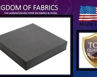 "Professional 4"" X 36"" X 72"" Upholstery Foam Cushion. Charcoal"
