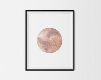 Rust & Copper Moon Print