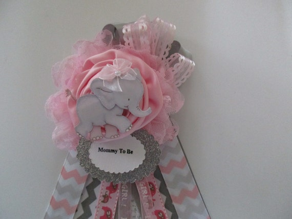 mommy to be corsage baby girl baby shower corsage pink baby shower