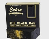 The Black Bar (single bar) Woodsy Scented Charcoal Coconut Natural Soap