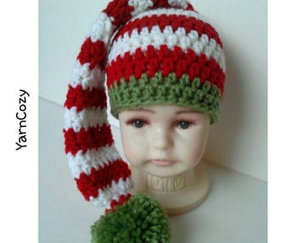 Baby Christmas Hat, Baby Elf Hat, Baby Christmas Outfit, Babys First Christmas, Baby Elf Costume, Elf Ears, Crochet Elf Hat, Christmas Baby