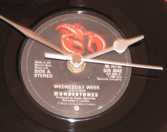"The Undertones Wednesday week  7"" vinyl record clock"