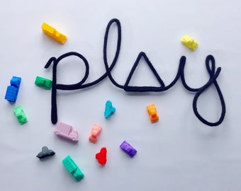 play - woolen word | Wall decoration