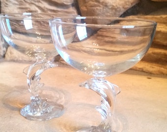 Dolphin Champagne Glasses