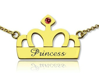 Personalized Princess Charm Necklace