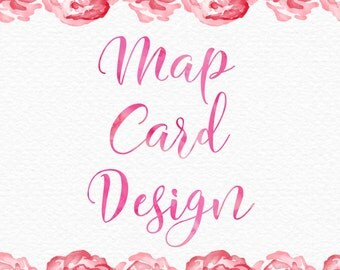 Map Card Design for Wedding Invitation Suite