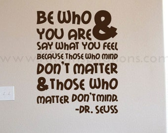 Dr. Seuss Reading Quote Wall Decal