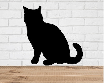 Cat Wall Decal Stickers  - 1 to 19 inches high cat pet Large Wall Art wall decor home decor