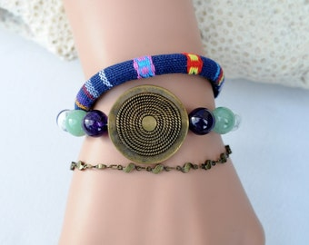 ethnic bracelet multi-strand Native American style