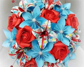 paper flower bouquet, first anniversary bouquet, birthday bouquet,1st anniversary gift, origami bouquet, paper anniversary, paper flowers