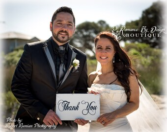 Thank You  Cottage Chic Wedding Sign