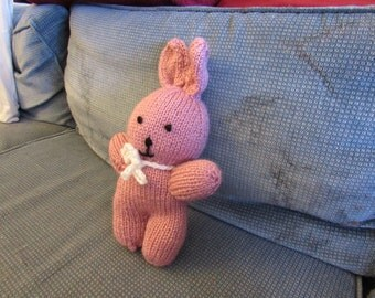 Stuffed Knit Bunny Toy
