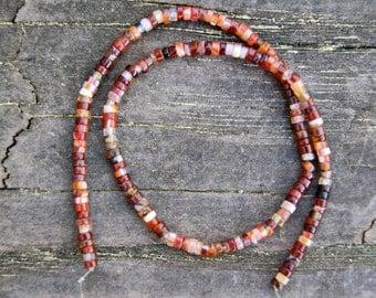4mm Carnelian Heishi Gemstone Beads (16 inch strand)