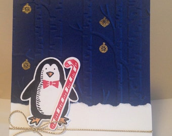 Stampin Up Penguin Forest Christmas Card