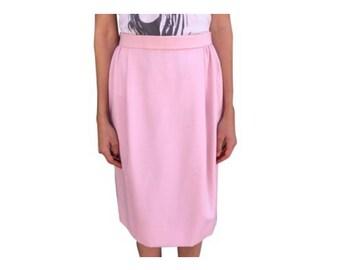 Vintage Oscar de la Renta pink pencil skirt!