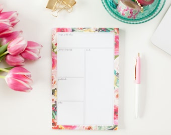 Daily Notepad--Bloom Floral