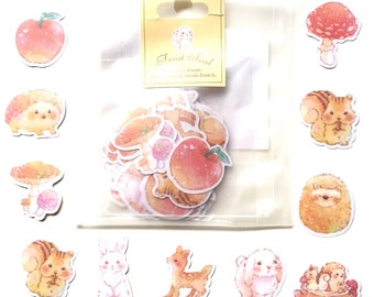 Forest animal sticker flakes