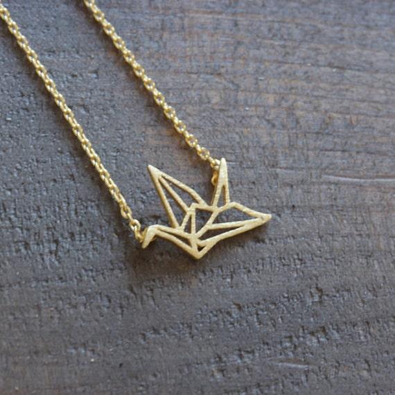 Origami Crane Pendant Necklace