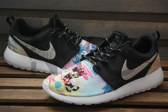 1baac4af9a409 high-quality Nike Roshe Run Black Disney Minnie Mouse Daisy Duck by  NYCustoms