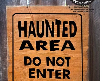 Halloween decor, Fall decor, autumn decor, Halloween Sign, Haunted Area Sign, haunted house decor, Halloween decoration, fall sign