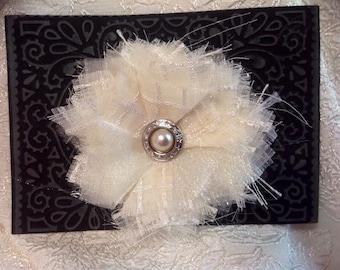 Fabric flower pin/ broach