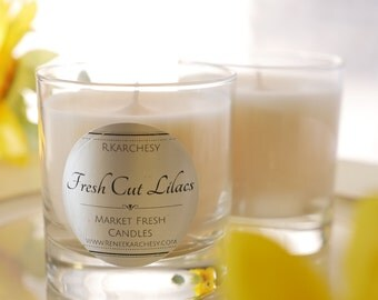 Fresh Cut Lilacs Scented Soy Candle 8oz
