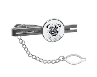 NEW! Pug- Tie pin with an image of a dog.