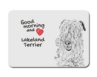 Lakeland Terrier , A mouse pad with the image of a dog. Collection!