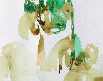 Earthy watercolor