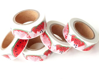 Washi tape, watermelons