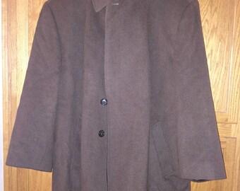 Very Nice Brown Wool Coat 54r 3xl or 4xl Jacket