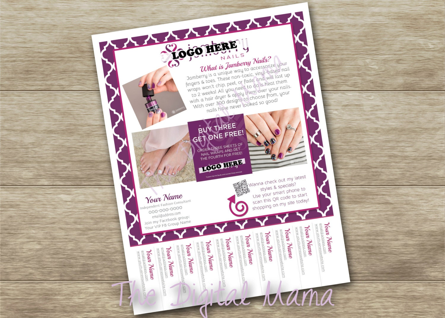 Jamberry Consultant TearOff Flyer Jamberry Tear Tab Flyer – Tear off Tab Flyer