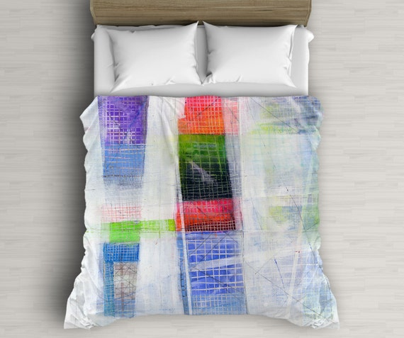 Bedding Art, Abstract Duvet Cover, Multicolor Decor, Abstract Art, Bed Decor, Duvet Cover Queen, King and Twin