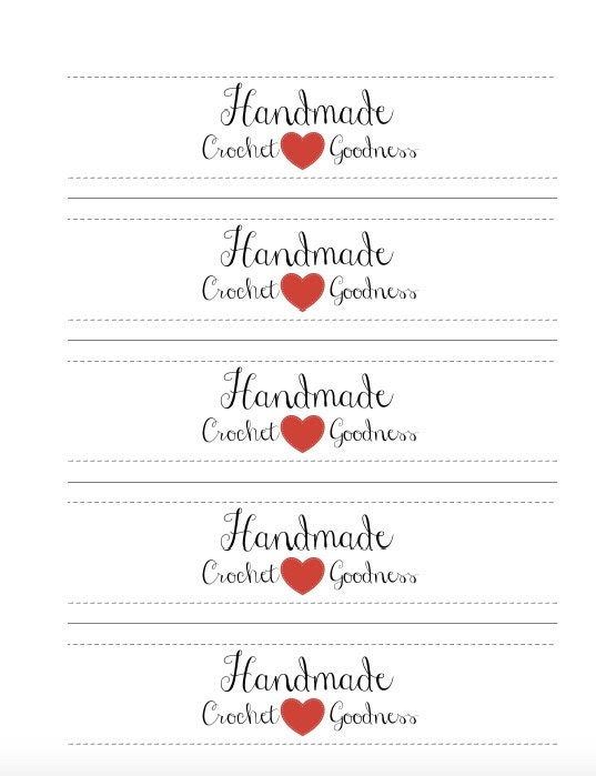 Refreshing image in printable crochet labels