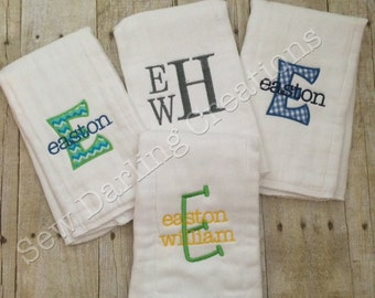Personalized burb cloths