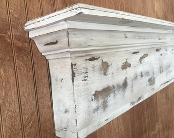 Distressed Mantle, Primative Mantel, Wall Shelf, Fireplace Mantel