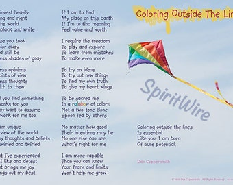 Coloring Outside The Lines Poem by Dan Coppersmith, Uplifting Poem & Photography, Empowering Poem