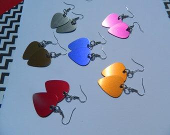 Colorful Guitar Pick Earrings