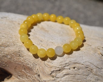 Yellow and White Stackable Bracelet - Stackable Bracelet - Yellow Bracelet